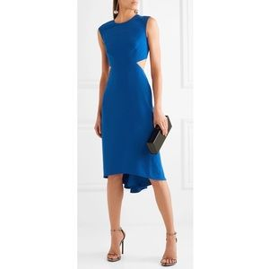 NWT Halston Cutout Crepe Midi Dress - sz 8